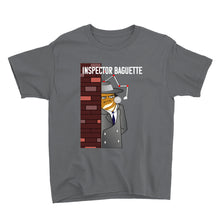 Load image into Gallery viewer, Movie The Food - Inspector Baguette Kid's T-Shirt - Charcoal