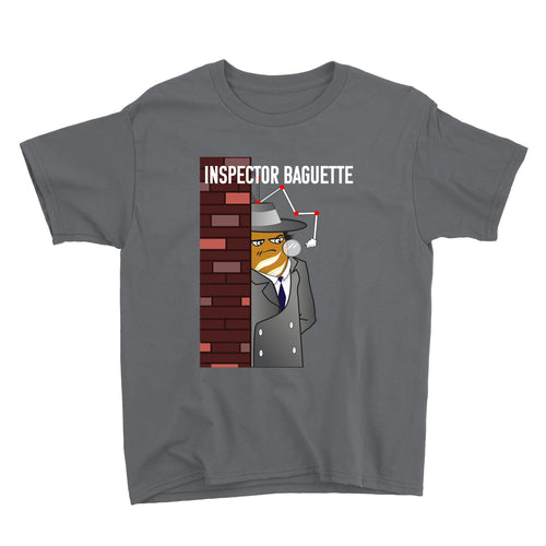 Movie The Food - Inspector Baguette Kid's T-Shirt - Charcoal