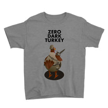 Load image into Gallery viewer, Movie The Food - Zero Dark Turkey Kid's T-Shirt - Heather Grey