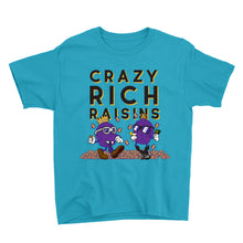 Load image into Gallery viewer, Movie The Food - Crazy Rich Raisins Kid's T-Shirt - Caribbean Blue