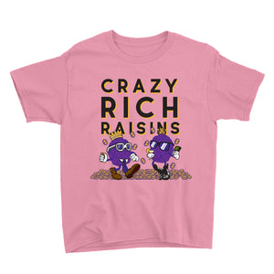 Movie The Food - Crazy Rich Raisins Kid's T-Shirt - Charity Pink