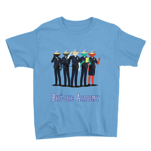 Movie The Food - Pholice Academy Kid's T-Shirt - Light Blue