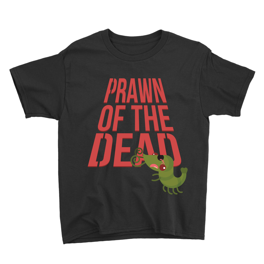 Movie The Food - Prawn Of The Dead Kid's T-Shirt - Black