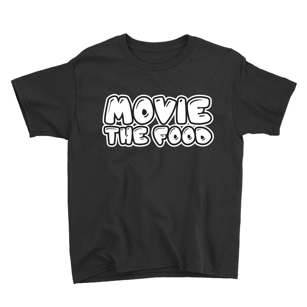 Movie The Food - Text Logo Kid's T-Shirt - Black