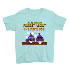 Load image into Gallery viewer, Movie The Food - The Fig Lebowski Kid's T-Shirt - Teal Ice