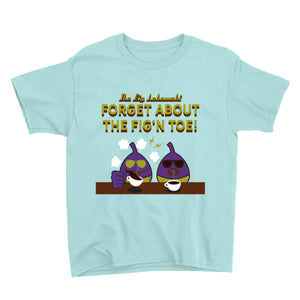 Movie The Food - The Fig Lebowski Kid's T-Shirt - Teal Ice