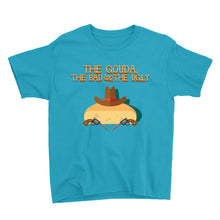 Load image into Gallery viewer, Movie The Food - The Gouda, The Bad, The Ugly Kid's T-Shirt - Caribbean Blue