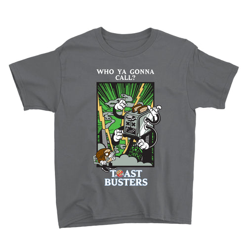 Movie The Food - Toastbusters Kid's T-Shirt - Charcoal