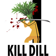 Load image into Gallery viewer, Movie The Food -Kill Dill Hoodie - Heather Grey - Design Detail