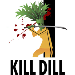 Movie The Food -Kill Dill Hoodie - Heather Grey - Design Detail