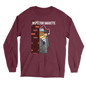 Movie The Food - Inspector Baguette Long Sleeve T-Shirt - Maroon