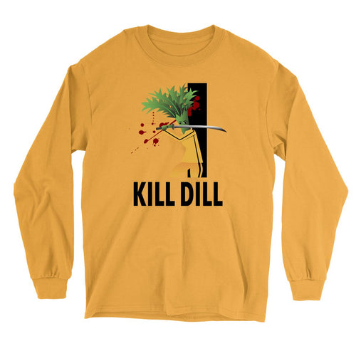 Movie The Food - Kill Dill Long Sleeve T-Shirt - Gold