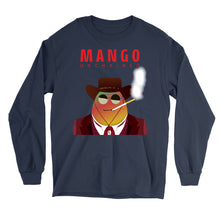 Load image into Gallery viewer, Movie The Food - Mango Unchained Long Sleeve T-Shirt - Navy