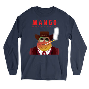 Movie The Food - Mango Unchained Long Sleeve T-Shirt - Navy