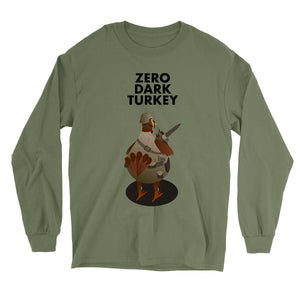 Movie The Food - Zero Dark Turkey Longsleeve T-Shirt - Military Green