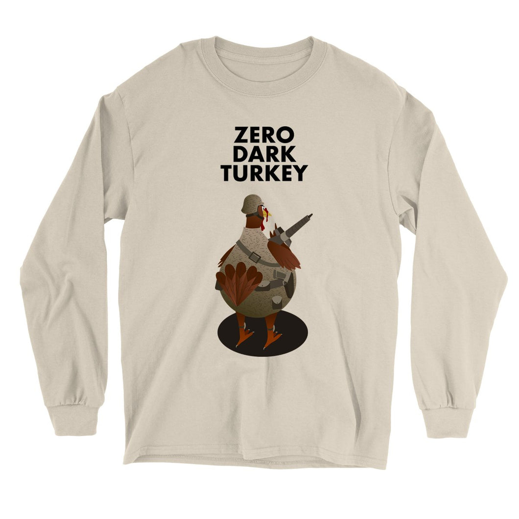 Movie The Food - Zero Dark Turkey Longsleeve T-Shirt - Sand