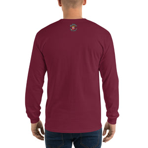 Movie The Food - Inspector Baguette Long Sleeve T-Shirt - Maroon - Model Back