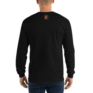 Movie The Food - Mango Unchained Long Sleeve T-Shirt - Black - Model Back