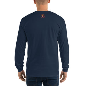 Movie The Food - Mango Unchained Long Sleeve T-Shirt - Navy - Model Back