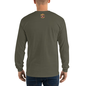 Movie The Food - The Gouda, The Bad, The Ugly Longsleeve T-Shirt - Military Green - Model Back