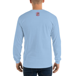 Movie The Food - The People Beneath The Eclairs Longsleeve T-Shirt - Light Blue - Model Back