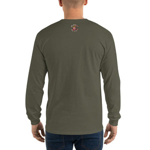 Movie The Food - Zero Dark Turkey Longsleeve T-Shirt - Military Green - Model Back