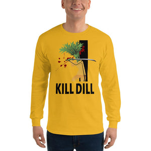 Movie The Food - Kill Dill Long Sleeve T-Shirt - Gold - Model Front