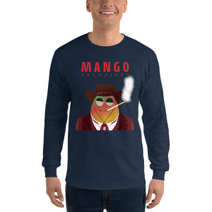 Movie The Food - Mango Unchained Long Sleeve T-Shirt - Navy - Model Front