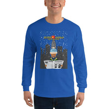 Load image into Gallery viewer, Movie The Food - Scone Alone 2 Long Sleeve T-Shirt - Royal - Model Front