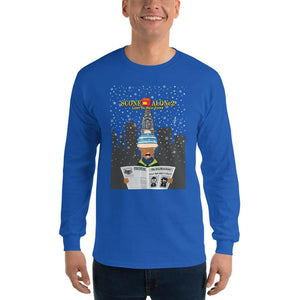 Movie The Food - Scone Alone 2 Long Sleeve T-Shirt - Royal - Model Front