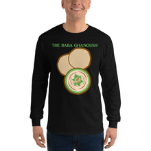 Load image into Gallery viewer, Movie The Food - The Baba Ghanoush Longsleeve T-Shirt - Black - Model Front