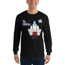 Load image into Gallery viewer, Movie The Food - The Codfather Longsleeve T-Shirt - Black - Model Front