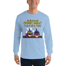 Load image into Gallery viewer, Movie The Food - The Fig Lebowski Longsleeve T-Shirt - Light Blue - Model Front