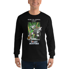 Load image into Gallery viewer, Movie The Food - Toastbusters Longsleeve T-Shirt - Black - Model Front