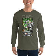Load image into Gallery viewer, Movie The Food - Toastbusters Longsleeve T-Shirt - Military Green - Model Front