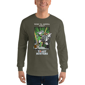 Movie The Food - Toastbusters Longsleeve T-Shirt - Military Green - Model Front