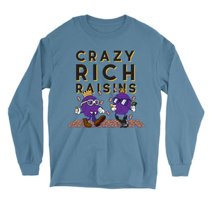 Movie The Food - Crazy Rich Raisins Longsleeve T-Shirt - Indigo Blue