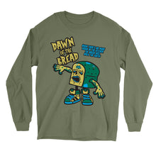 Load image into Gallery viewer, Movie The Food - Dawn Of The Bread Longsleeve T-Shirt - Military Green