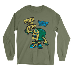Movie The Food - Dawn Of The Bread Longsleeve T-Shirt - Military Green