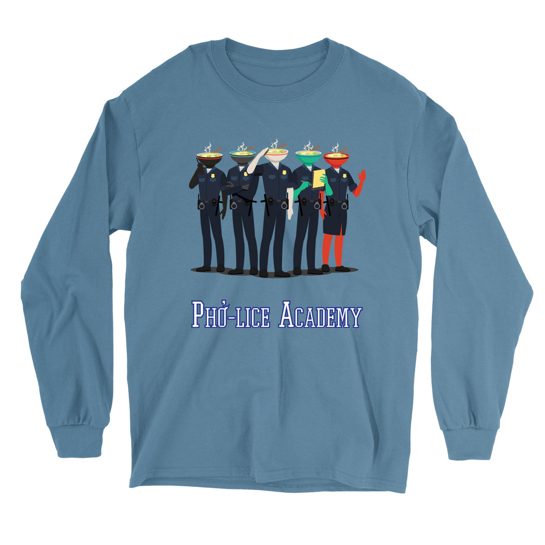 Movie The Food - Pho-lice Academy Longsleeve T-Shirt - Indigo Blue