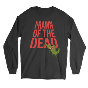 Movie The Food - Prawn Of The Dead Longsleeve T-Shirt - Black