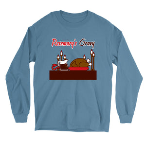 Movie The Food - Rosemary's Gravy Longsleeve T-Shirt - Indigo Blue
