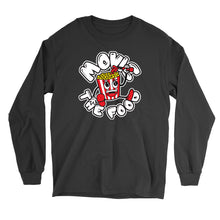 Load image into Gallery viewer, Movie The Food - Round Logo Longsleeve T-Shirt - Black