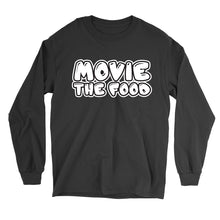 Load image into Gallery viewer, Movie The Food - Text Logo Longsleeve T-Shirt - Black