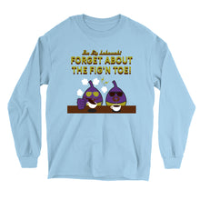 Load image into Gallery viewer, Movie The Food - The Fig Lebowski Longsleeve T-Shirt - Light Blue