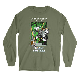 Movie The Food - Toastbusters Longsleeve T-Shirt - Military Green