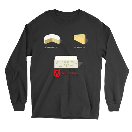 Movie The Food - V For Venfeta Longsleeve T-Shirt - Black