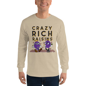 Movie The Food - Crazy Rich Raisins Longsleeve T-Shirt - Sand - Model Front
