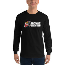Load image into Gallery viewer, Movie The Food - Logo Longsleeve T-Shirt - Black - Model Front