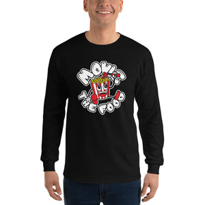 Movie The Food - Round Logo Longsleeve T-Shirt - Black - Model Front